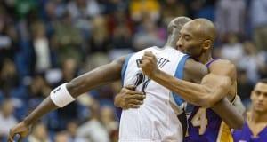Kobe Bryant and Kevin Garnett