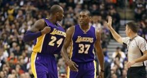 Kobe Bryant and Metta World Peace