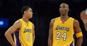 Jordan Clarkson and Kobe Bryant
