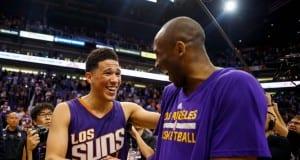 Devin Booker and Kobe Bryant