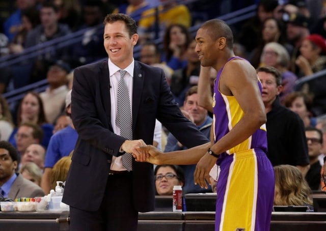 Luke Walton, Metta World Peace Lakers