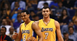 Jordan Clarkson Larry Nance Jr Lakers