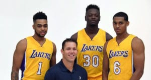 D'Angelo Russell Luke Walton Julius Randle Jordan Clarkson Lakers