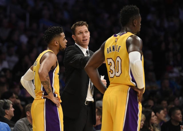 Julius Randle D'Angelo Russell Luke Walton Lakers