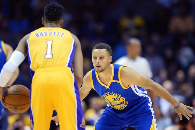 D'Angelo Russell Stephen Curry