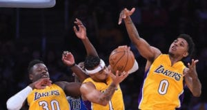D'Angelo Russell Nick Young Julius Randle Lakers