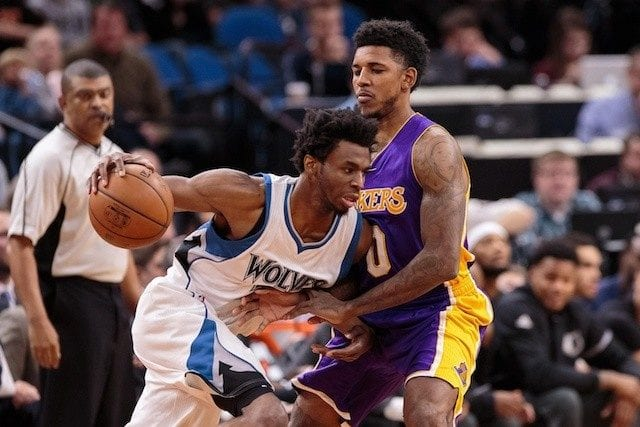 Lakers Andrew Wiggins Nick Young