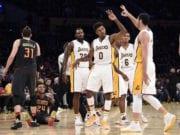 Nick Young, Jordan Clarkson, Larry Nance Jr, Tarik Black Lakers