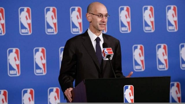 Adam Silver NBA Lakers NBA Draft