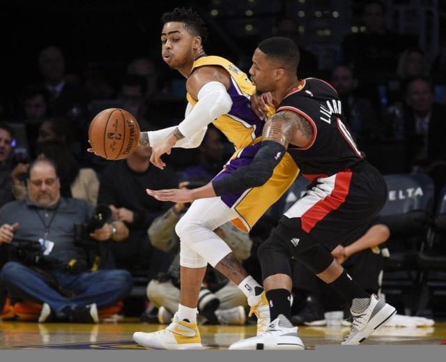 D'Angelo Russell Damian Lillard Lakers