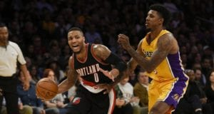 Nick Young Damian Lillard Lakers