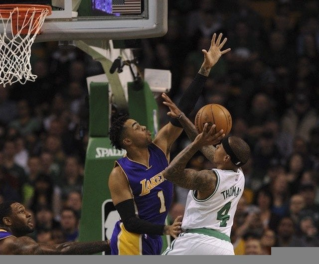 Isaiah Thomas, D'Angelo Russell, Celtics, Lakers