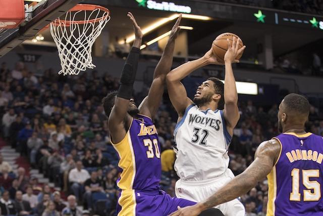 Karl-Anthony Towns, Julius Randle, Lakers, Timberwolves