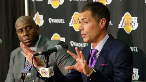 Rob Pelinka Magic Johnson Lakers