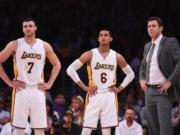 Luke Walton, Jordan Clarkson, Larry Nance Jr, Lakers
