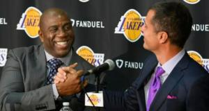 Magic Johnson Rob Pelinka Lakers