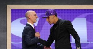 Lonzo Ball, Adam Silver, NBA Draft, Lakers