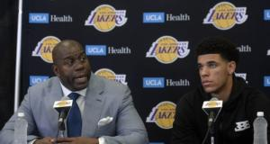 Magic Johnson, Lonzo Ball, Lakers