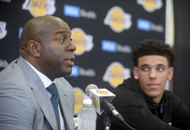 Magic Johnson, Lonzo Ball, Lakers