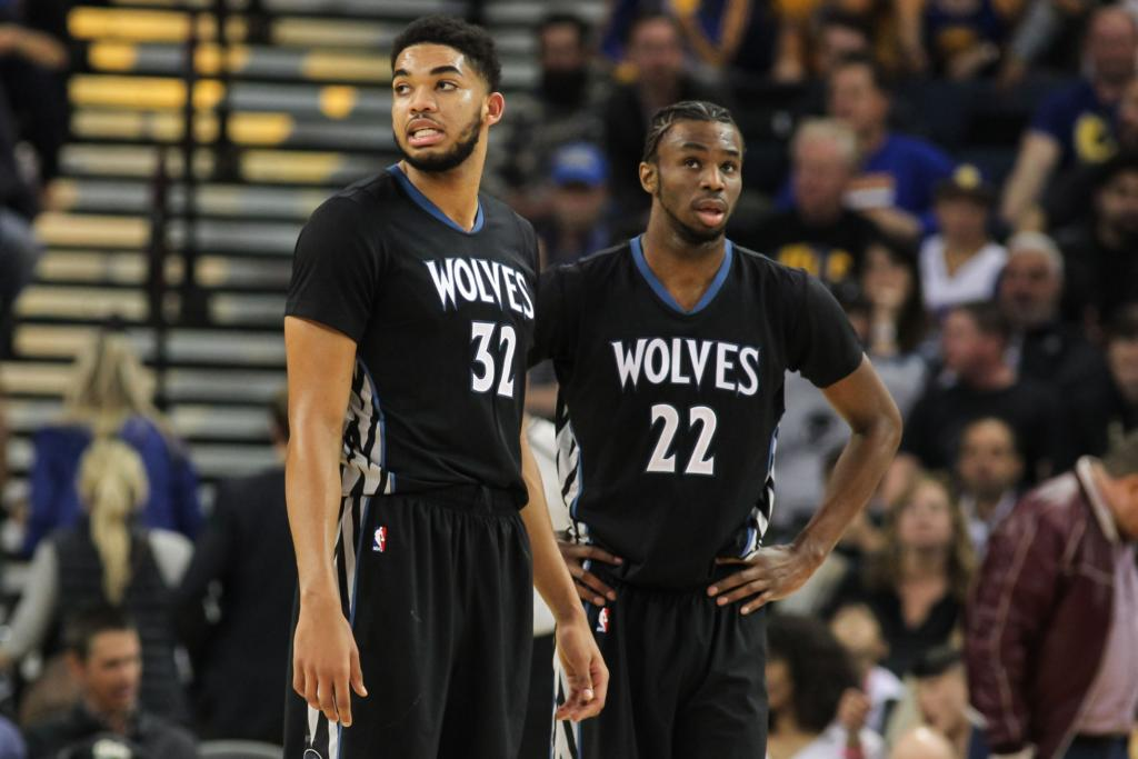 Karl-Anthony Towns Andrew Wiggins Timberwolves