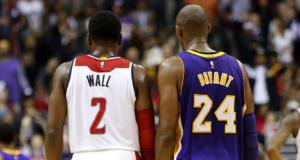 Kobe Bryant John Wall Lakers Wizards