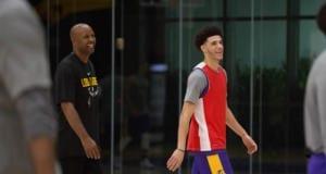 Lakers Training Camp - Brian Shaw Lonzo Ball