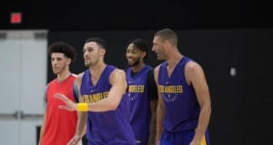 Lakers Training Camp - Lonzo Ball, Larry Nance Jr, Brandon Ingram, Brook Lopez