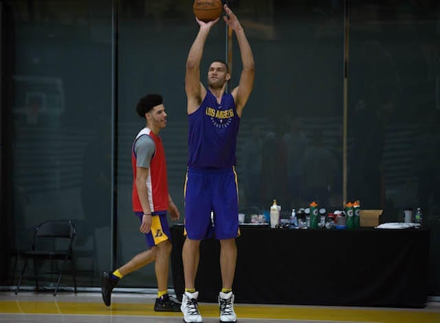 Lakers Training Camp - Lonzo Ball Brook Lopez