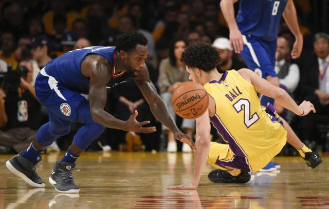Lonzo Ball Patrick Beverley Lakers