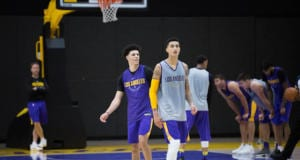 Lakers Practice - LONZO BALL KYLE KUZMA-5965
