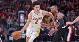 Lonzo Ball, Damian Lillard Lakers Blazers
