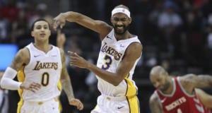 Corey Brewer, Kyle Kuzma, Lakers