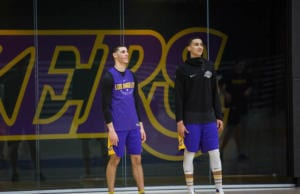 LAKERS PRACTICE 1201 - lonzo ball, kyle kuzma