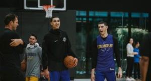 Lonzo Ball, Kyle Kuzma, Lakers practice