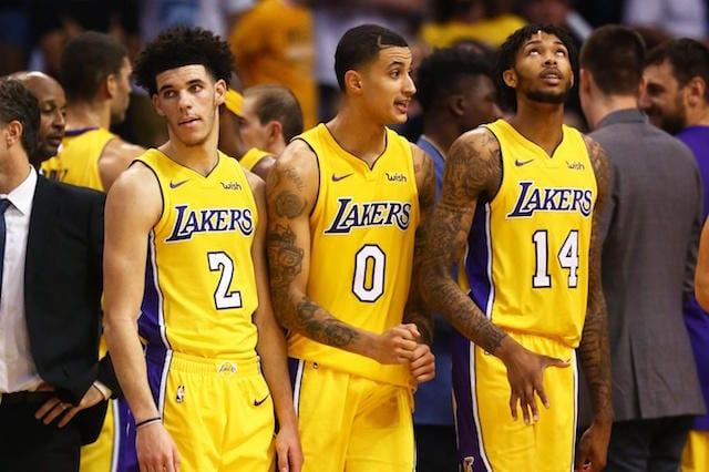 Lonzo Ball, Kyle Kuzma, Brandon Ingram, Lakers