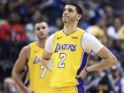Lonzo Ball, Larry Nance Jr, Lakers