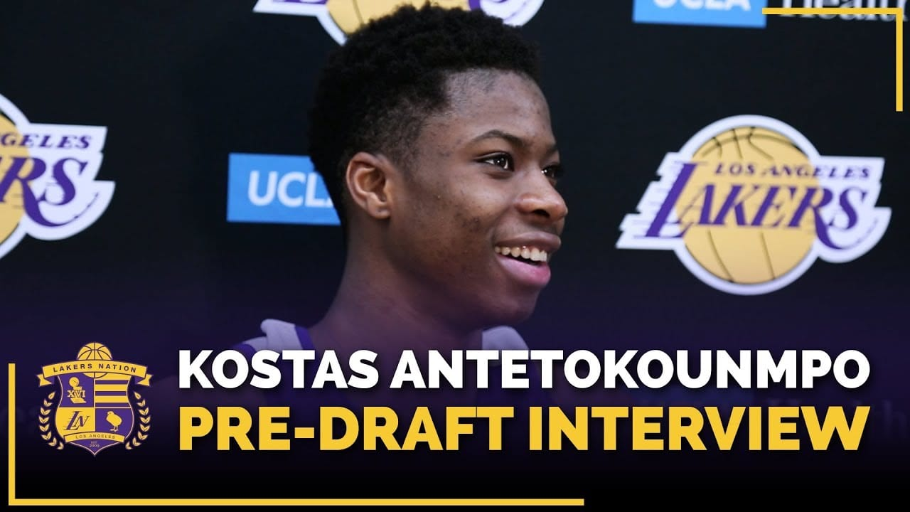 Lakers Pre-Draft Workout Video  Kostas Antetokounmpo Embraces Pressure That  Comes With Being Brother Of Giannis Antetokounmpo fe74cfc49