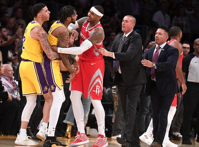 16e1d770946 Lakers News  NBA Suspends Brandon Ingram 4 Games And Rajon Rondo Banned 3  Games For Punching Chris Paul